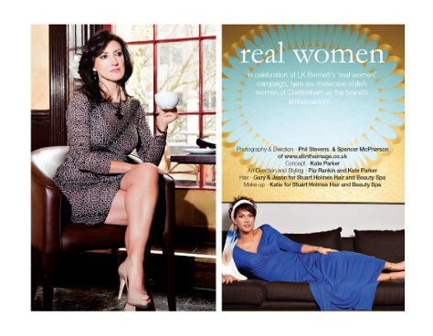 'Real Women' photoshoot images and banner
