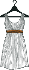 Image of hanging dress